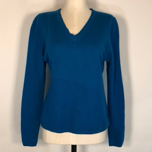 Only Mine 100% 2-Ply Cashmere Cutie V-Neck Sweater